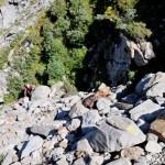 ripido canale di rocce