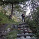 scala di legno