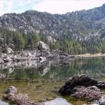 lac de servaz e in fondo il pendio da risalire