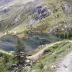 il lago salendo sulla strada