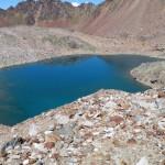 lago gelato dall'alto