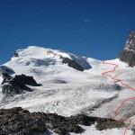 itinerario per l'adlerpass dal colletto quota 3123