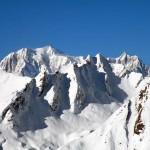 sullo sfondo il monte bianco e maudit