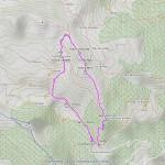 punta chaligne, traversata mappa itinerario