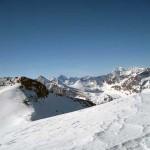 ghiacciai dell'alta valle di rhemes e a destra la grande sassiere