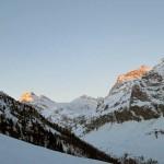 alba sull'alta valle di rhemes