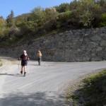 bivio sulla strada asfaltata