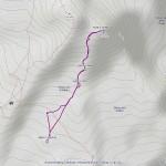 punta giordani mappa itinerario