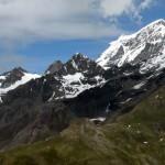 panorama dal bivacco verso mont velan e grand combin