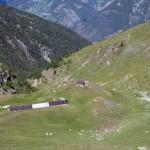 bivacco ed alpeggio dalla vetta