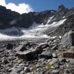 ghiacciaio alla testata del vallone