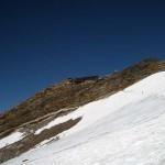 ghiacciaio sotto il rifugio gnifetti