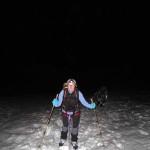 sul ghiacciaio sopra il rifugio