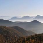 primi panorami sulle vette del verbano