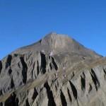 battelmatthorn e a sinistra la cresta di salita
