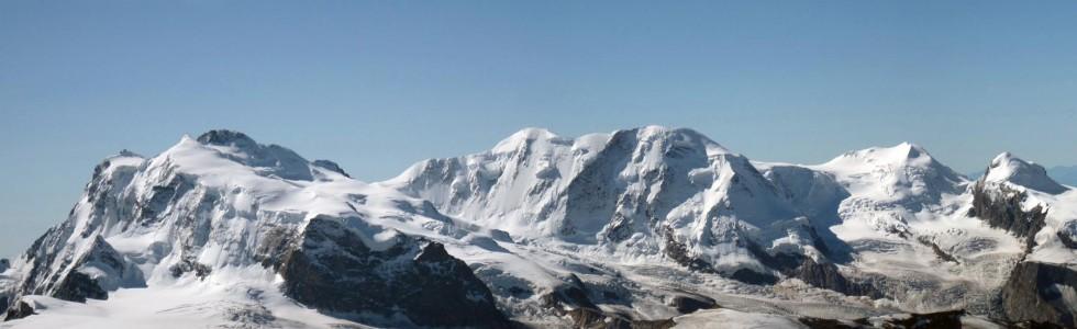 Gruppo del Monte Rosa dall'Alphubel