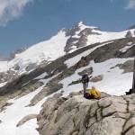 le vette del ghiacciaio di pre de bard