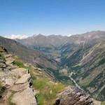 panorama verso cogne dopo il grand vallon