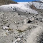 discesa verso il ghiaciaio