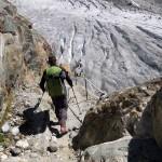 discesa verso il ghiacciaio