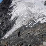 salita dal piede del ghiacciaio