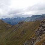 uno sguardo alla lunga cresta percorsa