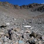 vallone sopra il piede del ghiacciaio