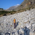 attraversamento della  pietraia