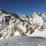 panorama dal colle sul gruppo della grande rousse