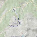 col de la croix,lago arpy mappa itinerario