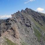 punta valletta con la cresta di salita