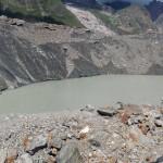 il lago ai piedi del ghiacciaio