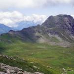 mont rodzo e a sin la cresta di salita