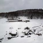 l'alpeggio visto in discesa
