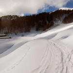 deviazione in vista dell'alpe chaligne