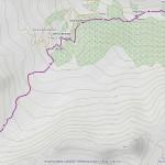 col serena mappa itinerario