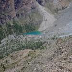 lago blu nella comba di verra