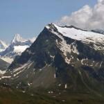 mont gelè e al centro la dent blanche e weisshorn