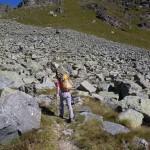 pietraia oltre la punta rocciosa