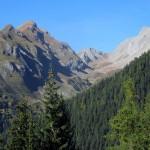 il vallone di chambave e il colle dalla partenza