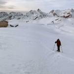 nei pressi dell'alpeggio isolato
