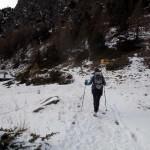 sentiero del ritorno nel vallone basso