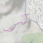 Mt. Brisè, colletto quota 2160 mappa itinerario