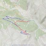 cabane brunet mappa itinerario (rosso sentiero-blu strada)