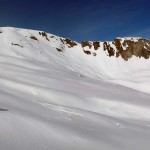 verso la base della cresta del grand laget