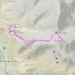 croix corma,tete de cou mappa itinerario