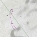 pointe lachenal normale mappa itinerario