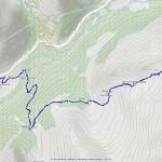 mont dzalou mappa itinerario
