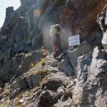 inizio del sentiero alpinistico