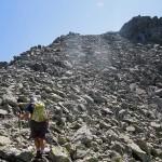 risalendo la pietraia